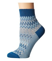 Missoni Ankle Socks Multi Blue Women's Crew Cut Socks Shoes