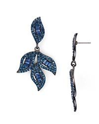 Aqua Ilana Blue Leaf Drop Earrings