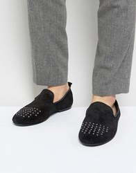 Frank Wright Slipper Shoes With Studded Toe Blue