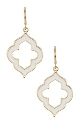 Ariella Collection Spade Earrings White
