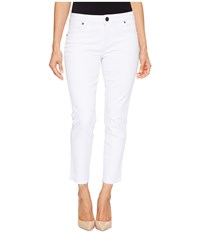 Kut From The Kloth Petite Reese Ankle Straight Leg Jeans In Optic White Optic White Women's Jeans