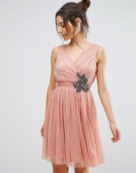 Little Mistress Embellished Prom Dress Peach Pink