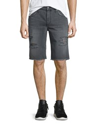 Joe's Jeans Eliott Distressed Denim Short Dark Gray Men's
