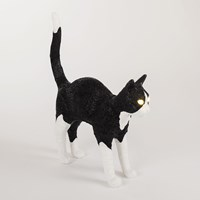 Seletti Jobby The Cat Rechargeable Lamp Black White