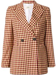 Ports 1961 Check Pattern Blazer Multicolour