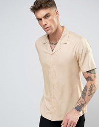 Another Influence Revere Collar Shirt Beige