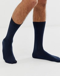 Selected Homme Rib Sock In Navy