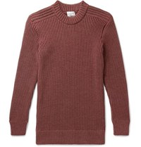 S.N.S. Herning Fang Ribbed Merino Wool Sweater Burgundy