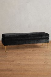 Anthropologie Slub Velvet Edlyn Bench Black