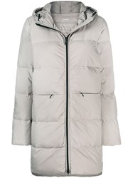 Ecoalf Padded Hooded Coat Neutrals