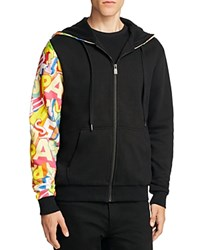 Eleven Paris No Trespassing Zip Up Hoodie 100 Bloomingdale's Exclusive Black