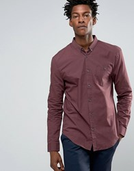 Kiomi Shirt In Regular Fit Augergine Red