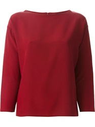Etro Loose Fit Long Sleeve Top Red