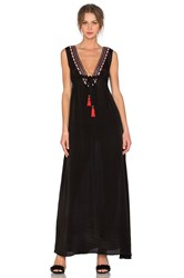 Karina Grimaldi Cathy Beaded Maxi Dress Black