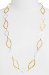 Karine Sultan Women's Long Link Necklace Gold Silver Mix