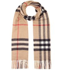 Burberry Giant Icon Cashmere Scarf Beige