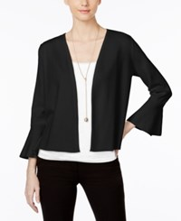 Alfani Petite Ruffle Sleeve Cardigan Only At Macy's Deep Black