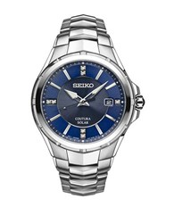 Seiko Coutura Solar Stainless Steel Bracelet Watch Silver