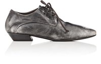 Marsell Women's Tapered Toe Leather Oxfords Black