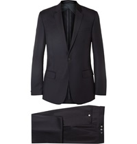 Kilgour Navy Slim Fit Wool Suit Blue