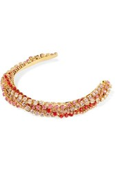 Lelet Ny Gold Plated Crystal Headband One Size