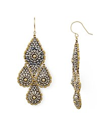 Miguel Ases Layered Teardrop Drop Earrings Multi