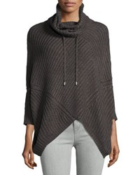 Republic Clothing Group Cable Knit Turtleneck Poncho Heather Gr