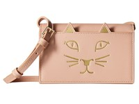 Charlotte Olympia Feline Purse Blush Wallet Handbags Pink