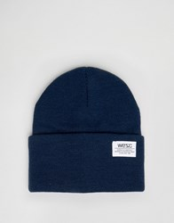 Wesc Puncho Knitted Beanie Blue