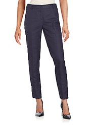 Akris Flat Front Ankle Length Pants Navy