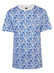 Pretty Green Men's Caversham Paisley T Shirt Blue