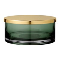 Aytm Tota Jar With Lid Forest And Brass