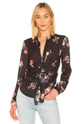 Central Park West Sanctuary Tie Waist Blouse Black