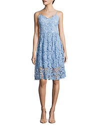 Alexia Admor Embroidered Lace Dress Pale Blue