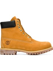 Timberland Waterproof Lace Up Boots Yellow And Orange