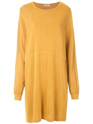 Egrey Knitted Gathered Dress Yellow