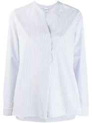 Aspesi Pinstriped Blouse Blue
