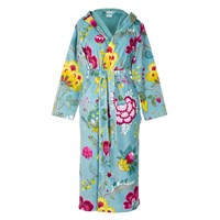 Pip Studio Floral Fantasy Light Petrol Bathrobe Blue