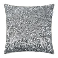 Kylie Minogue At Home Cadence Bed Cushion Silver 55X55cm