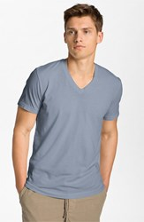 James Perse Men's Short Sleeve V Neck T Shirt Kelp Pigment
