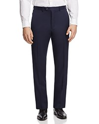 Bloomingdale's The Men's Store At Classic Fit Solid Trousers 100 Exclusive Navy