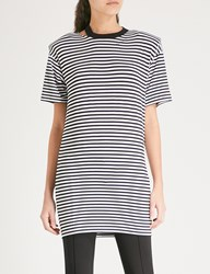 Moandco. Striped Jersey Dress Black And White