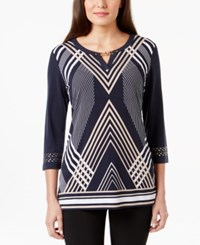 Jm Collection Printed Keyhole Top Only At Macy's