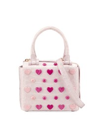 Nancy Gonzalez Small Heart Cube Crossbody Bag Pink