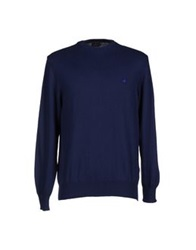 Brooksfield Royal Blue Sweaters Acid Green