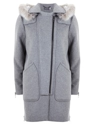 Mint Velvet Pocket Duffle Coat Grey