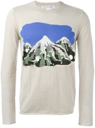 Comme Des Gara Ons Shirt Mountain Intarsia Jumper Nude And Neutrals