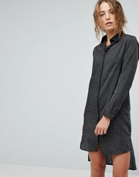 Bolongaro Trevor Stripe Shirt Dress Pintstripe Black