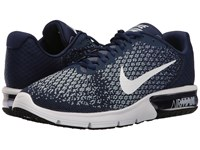 Nike Air Max Sequent 2 Binary Blue White Blue Moon Men's Running Shoes Navy