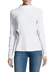 Kendall Kylie Solid Cutout Tee Bright White